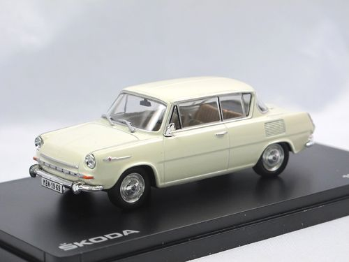 Abrex 1969 Skoda 1100 MBX Coupe Ivory 1/43