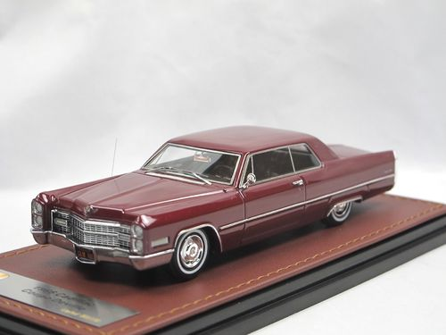 GLM 1966 Cadillac Coupe DeVille red 1/43