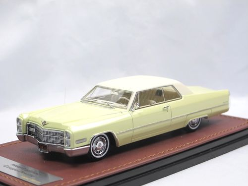 GLM 1966 Cadillac Coupe DeVille cream 1/43