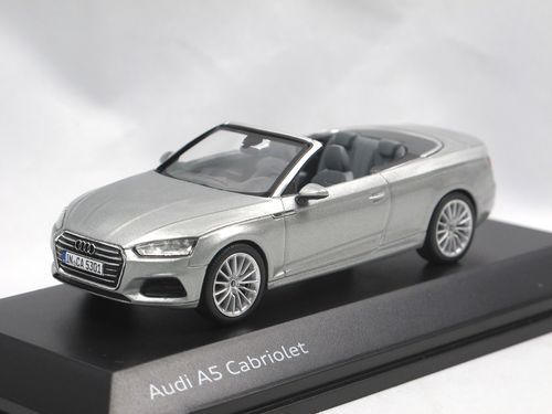 Minimax 2017 Audi A5 Cabriolet silber 1/43