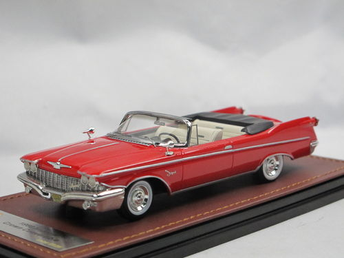 GLM 1960 Imperial Crown Convertible Top Down Red 1/43