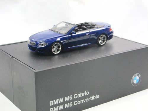BMW 6er Cabrio 2006 dunkelblau 1:43  Minichamps neu /& OVP