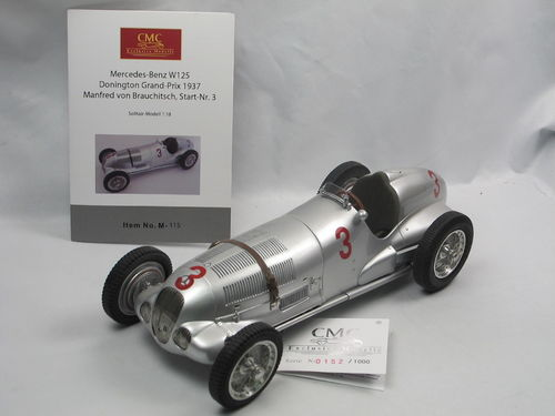 CMC Mercedes-Benz W125 Donington GP 1937 Brauchitsch #3 1/18