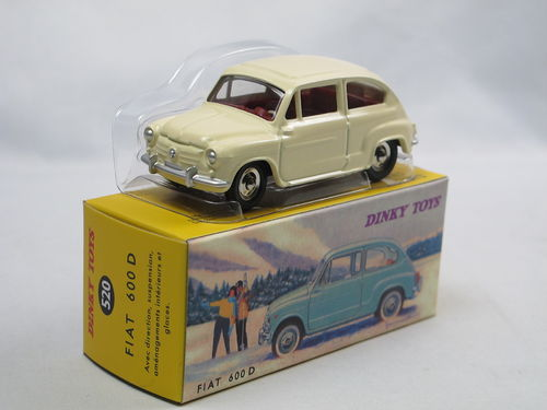 Atlas Dinky Toys 1960 Fiat 600 D cremeweiß 1/43