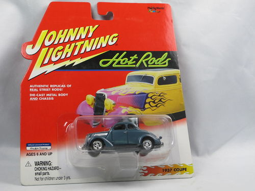 Johnny Lightning Hot Rods 1937 Ford Coupe blau 1/64