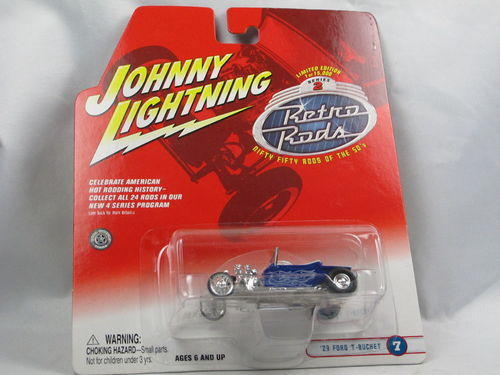Johnny Lightning Retro Rods 1923 Ford T-Bucket blau 1/64