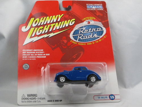 Johnny Lightning Retro Rods 1933 Willys Coupe blau 1/64