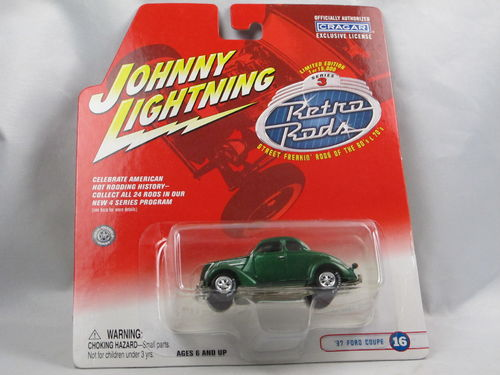 Johnny Lightning Retro Rods 1937 Ford Coupe grün 1/64