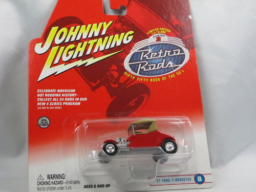 Johnny Lightning Retro Rods 1927 Ford T-Roadster rot 1/64