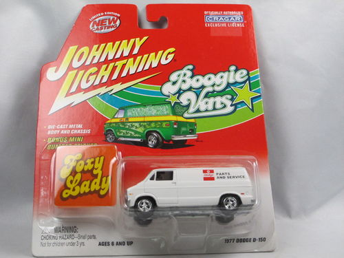 Johnny Lightning Boogie Vans 1977 Dodge D-150 Foxy Lady 1/64