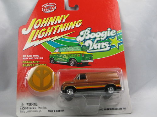 Johnny Lightning Boogie Vans 1977 Ford Econoline Peace 1/64