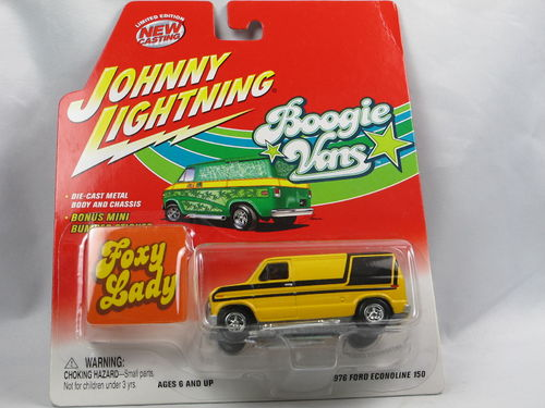 Johnny Lightning Boogie Vans 1976 Ford Econoline gelb 1/64