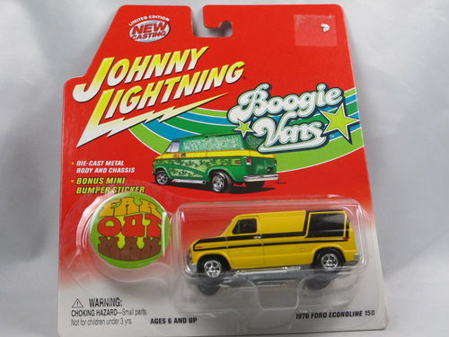 Johnny Lightning Boogie Vans Ford Econoline FAR OUT MAN 1/64