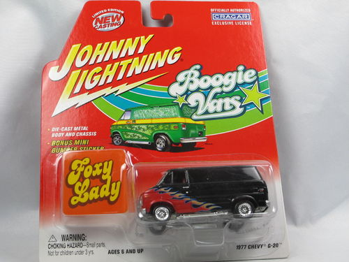 Johnny Lightning Boogie Vans 1977 Chevy G-20 Foxy Lady 1/64