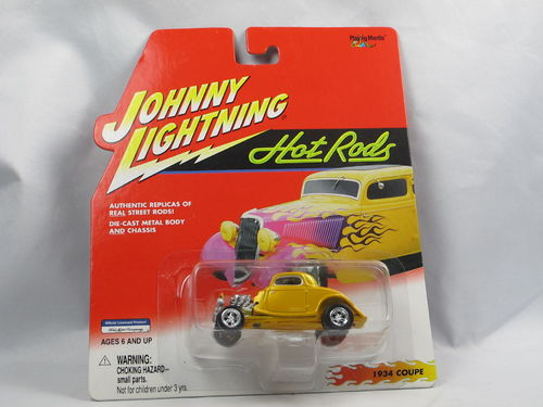 Johnny Lightning Hot Rods 1934 Ford Coupe gelb 1/64