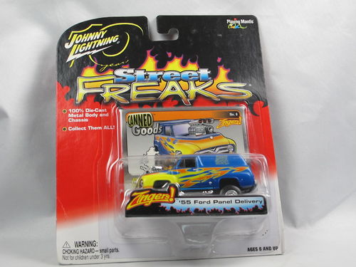 Johnny Lightning Street Freaks 1955 Ford Panel Van blau 1/64