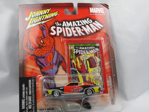 Johnny Lightning Marvel 1973 Dodge Charger Spiderman 1/64