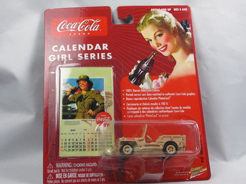 Johnny Lightning Coca-Cola Calendar Girl Willys Jeep 1/64