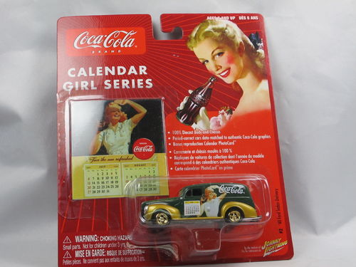 Johnny Lightning Coca-Cola Calendar Girl Ford Sedan 1/64