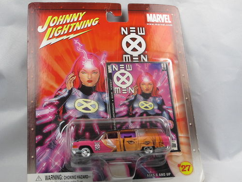 Johnny Lightning Marvel New X-Men 1966 Cadillac Hearse 1/64