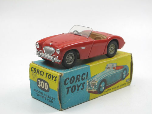 Corgi Toys 300 Austin Healey rot restauriert in Box