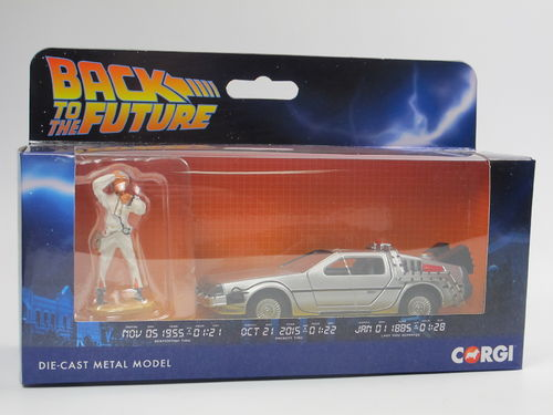 Corgi Back to the Future DeLorean mit Doc Brown Figur 1/36